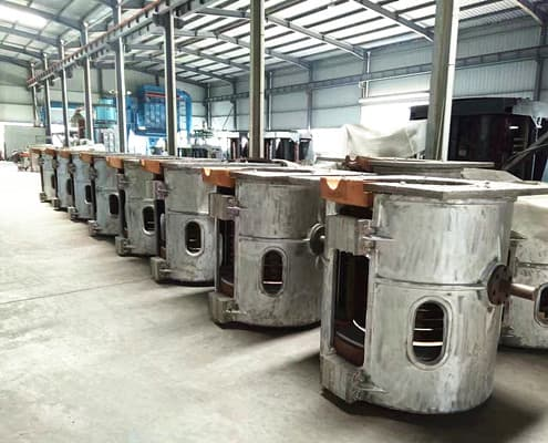 aluminium shell induction melting furnace