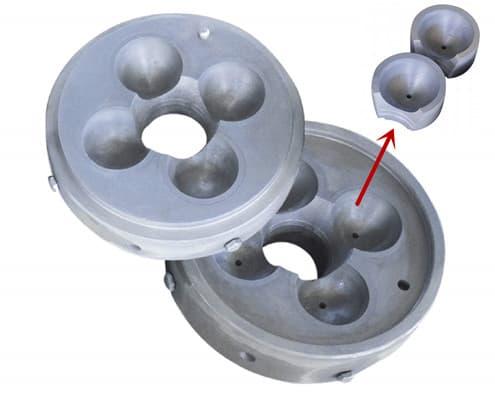grinding ball metal mold