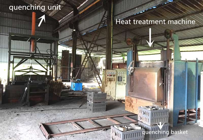 heat treatment oven for grinding balls