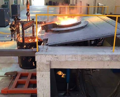 steel type melting furnace