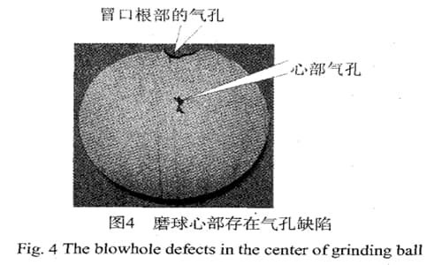 cast iron grinding balls -blowhole defects