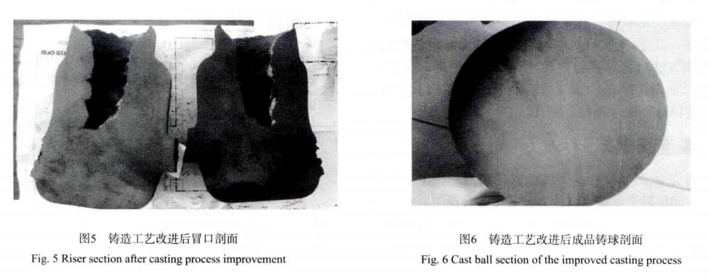 cast ball section